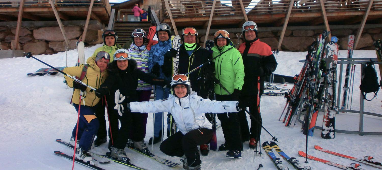 Hotel Sass Maor Escursioni comitiva sugli sci