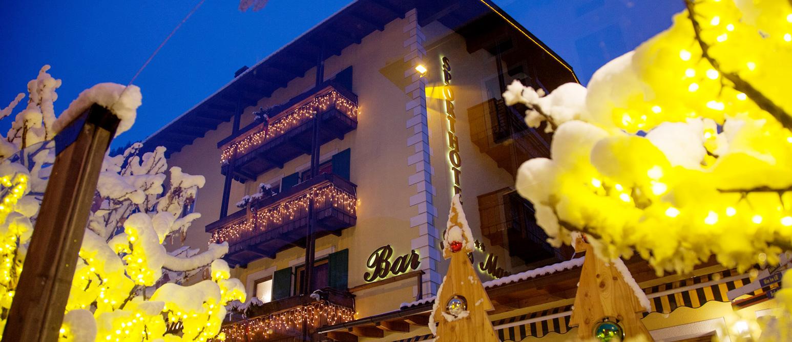 Hotel Sass Maor Predazzo In inverno